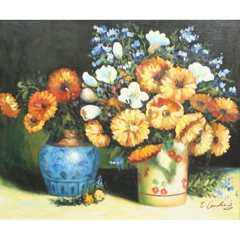 B. Long-flowers in vase