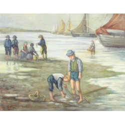 A. van Klugt-playing children on the beach