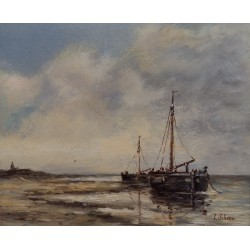 L. Scheen-and fishing vessels on the coast