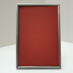 Photo Frame round matt zilver