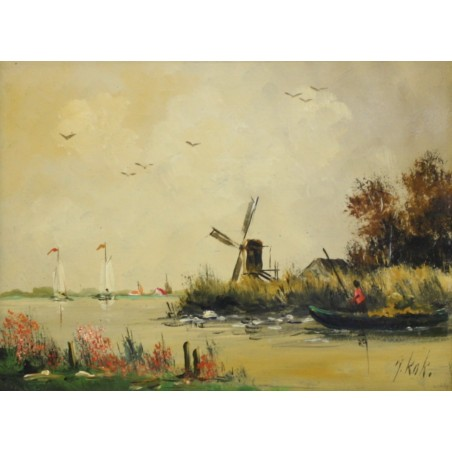 J. Kok-mill on the river