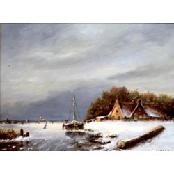 L. Scheen-old Dutch winter landscape