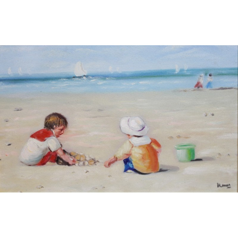 Chan-children on the beach