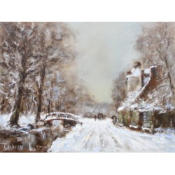 L. Scheen  -  Oud Hollandse winterlandschap