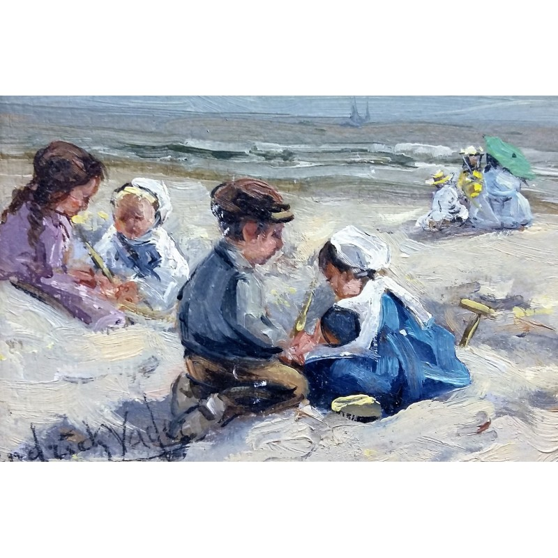 Hendrik Vader - Children on the beach