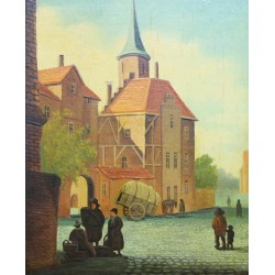 Old Dutch cityscape