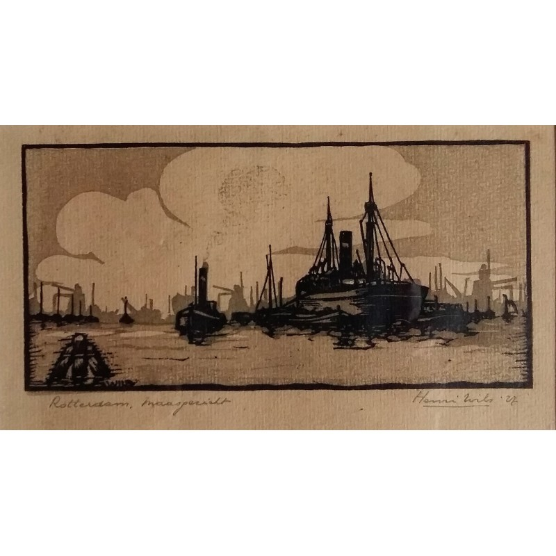 Unknown Etching Rotterdam Maas Face