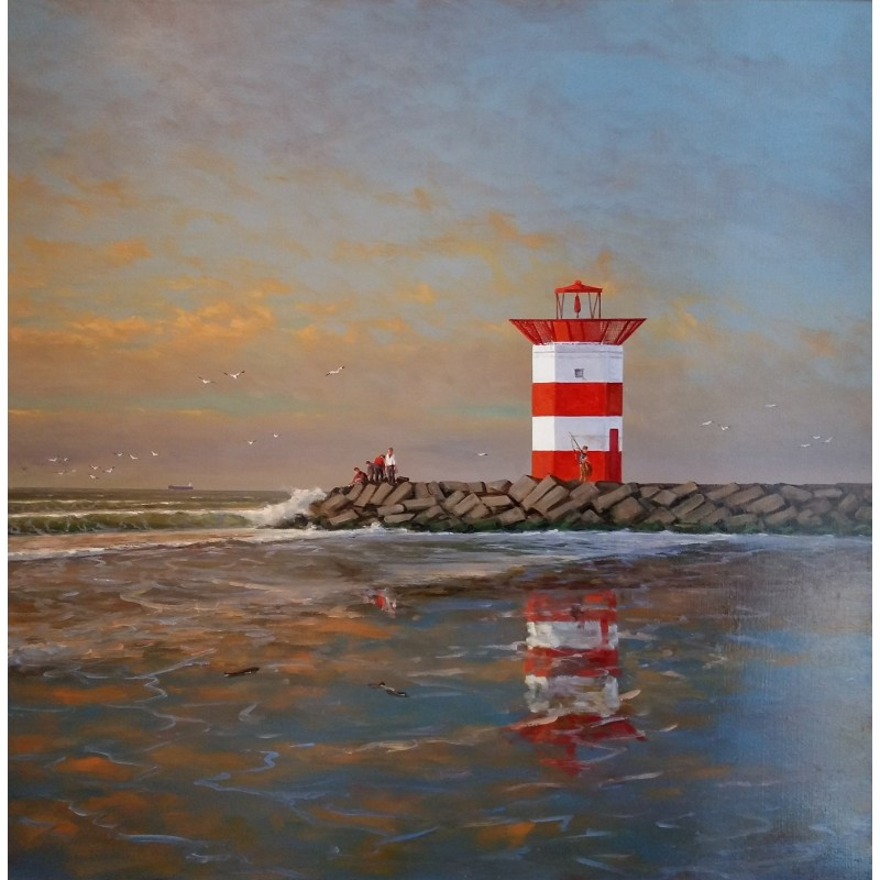 Henk van Beurden-Red lighthouse