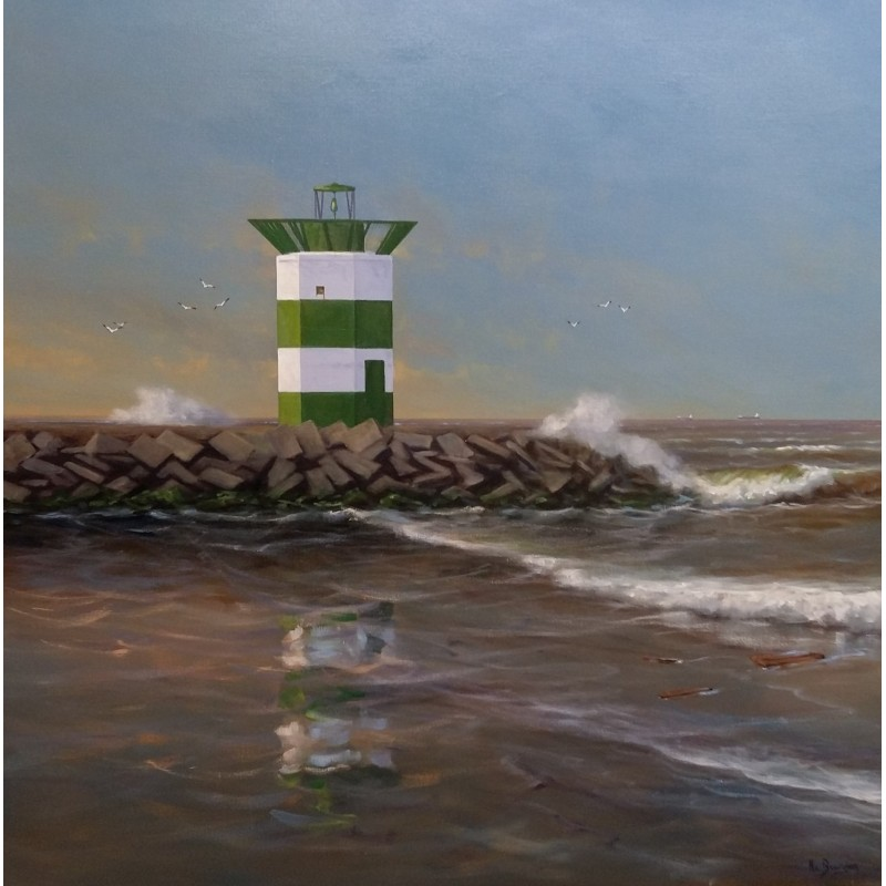 Henk van Beurden-green lighthouse