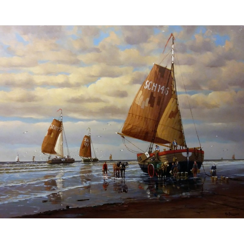 Henk van Beurden-and fishing vessels in Scheveningen