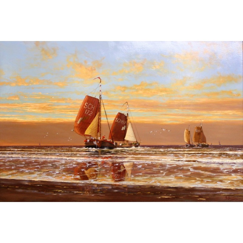 Henk van Beurden-boats at sea