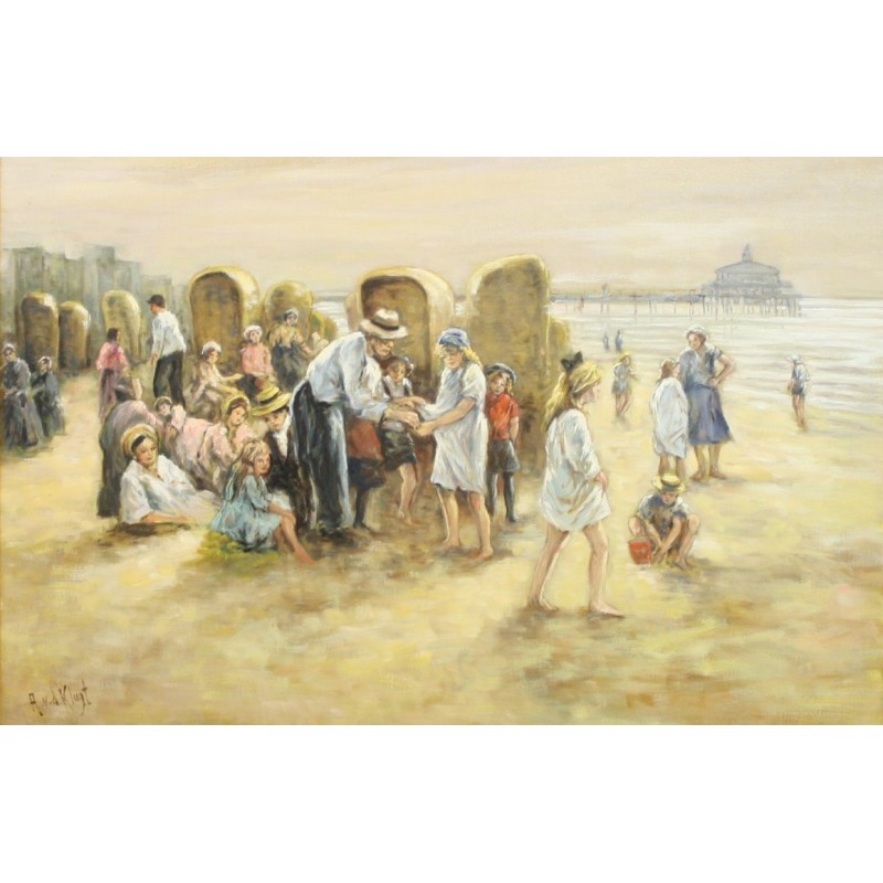 A. van Klugt-a day out on the beach