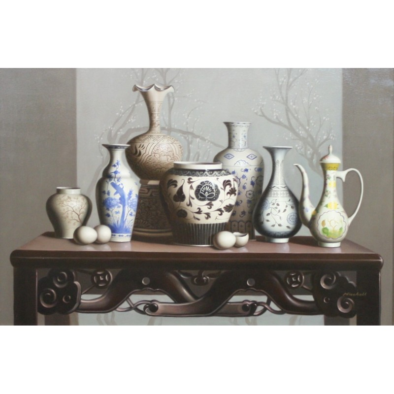 Vases on the table