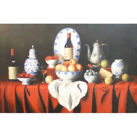 Wine and fruit table