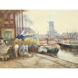 A. van Klugt-the mill in Delft
