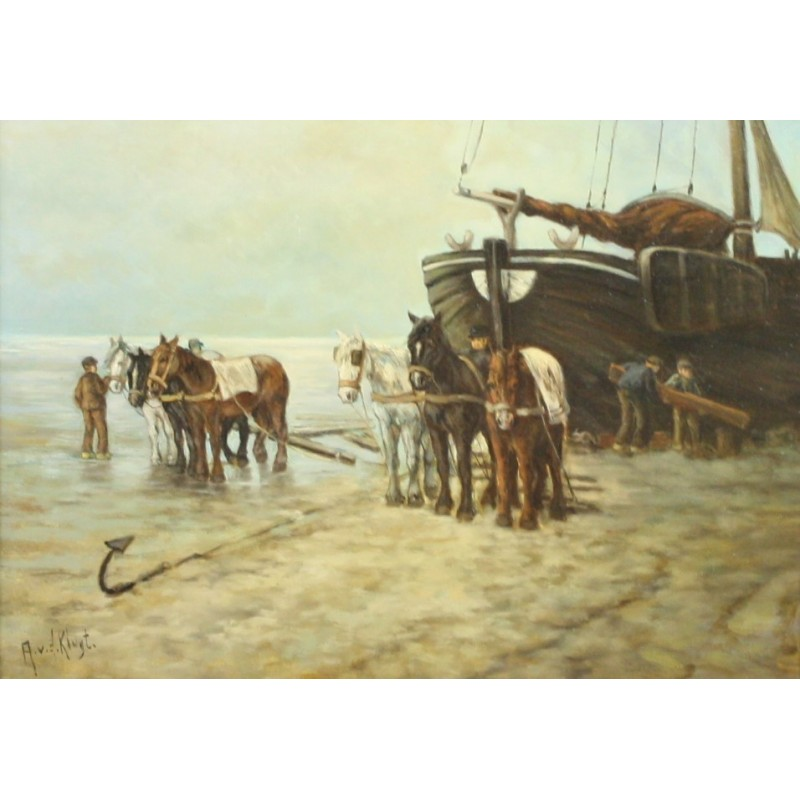 A. van Klugt-the shipyard on the beach